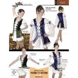 Patron de robe style mousquetaire