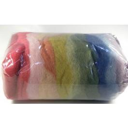 Laine cardée avec des couleurs naturelles 12 couleurs