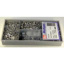 Boîte 500 oeillets Noir (bruni) 5 mm