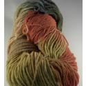 Fil à chaussette bio laine et lin avec teinture végétale