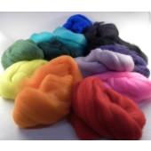 Merinos de couleur 18 microns (par 50gr)