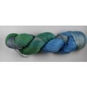Tons de bleu vert et gris