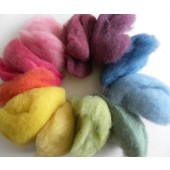 Hand dyed wool with natural dyes