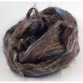 Carded recycled silk