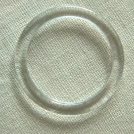 Anneau plastique transparent