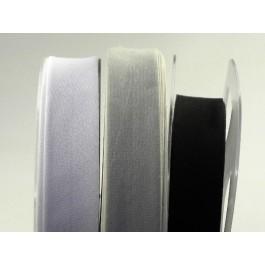 Biais coton blanc, noir, écru