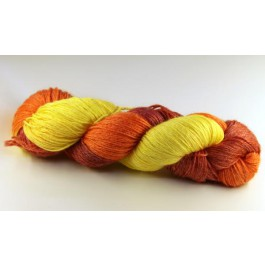 Fil à chaussette tons jaune-orange