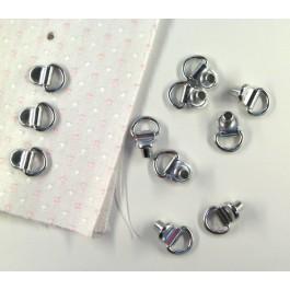 rivet anneau sur tissu