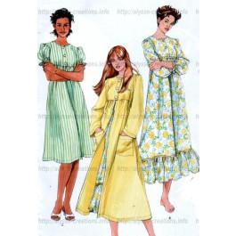 Patron de chemise de nuit, pyjama et robe de chambre-(7039)-