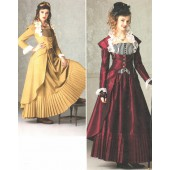 Patron de robe fantaisie / gothique / steam punk 7532