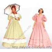 Patron de robe époque 1800