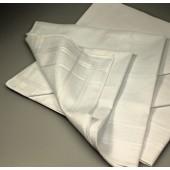Mouchoir blanc en tissu x 6 pièces 100% coton - 30cmx30cm (3163)