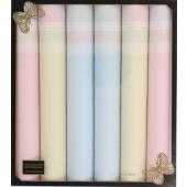 Mouchoir en tissu pour femmes x 6 pièces - 100% Coton - 30cmx30cm