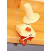 Ball winder, red and yellow